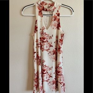White and Red Floral dress!